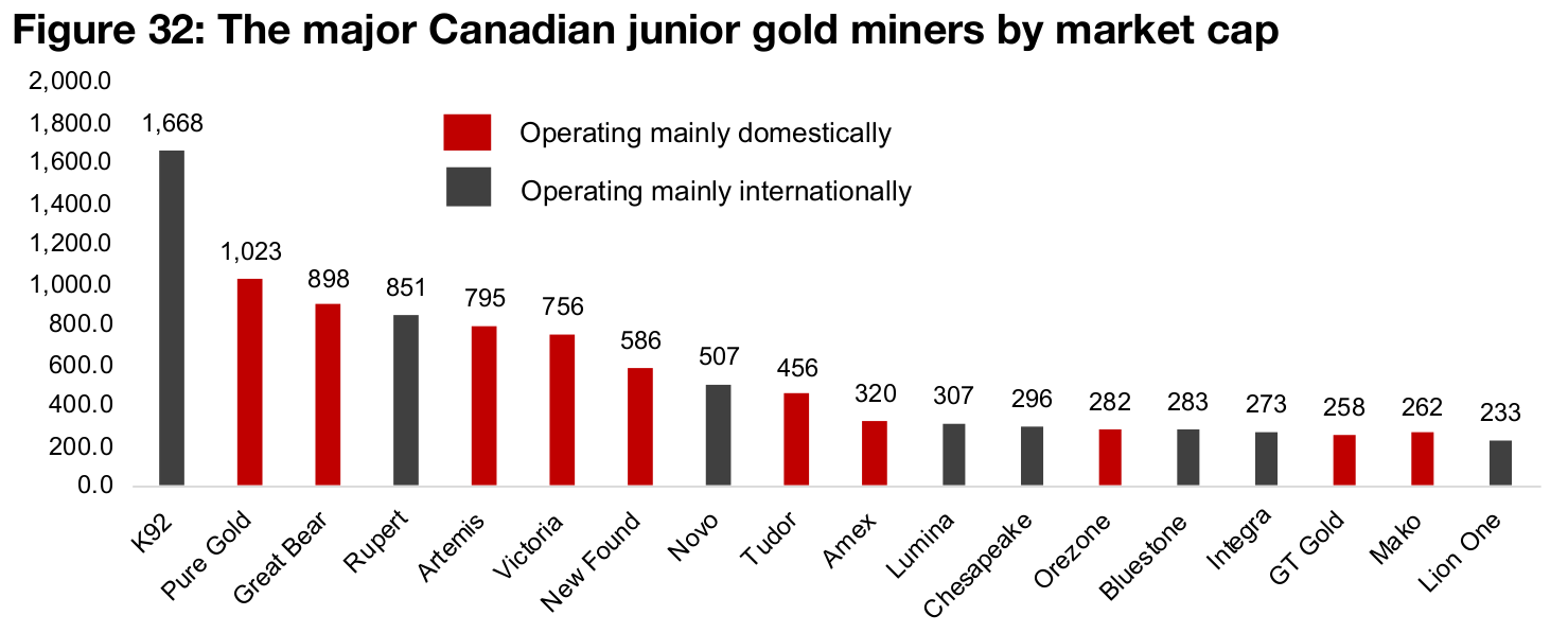 Big gains for major Canadian junior miners in 2020