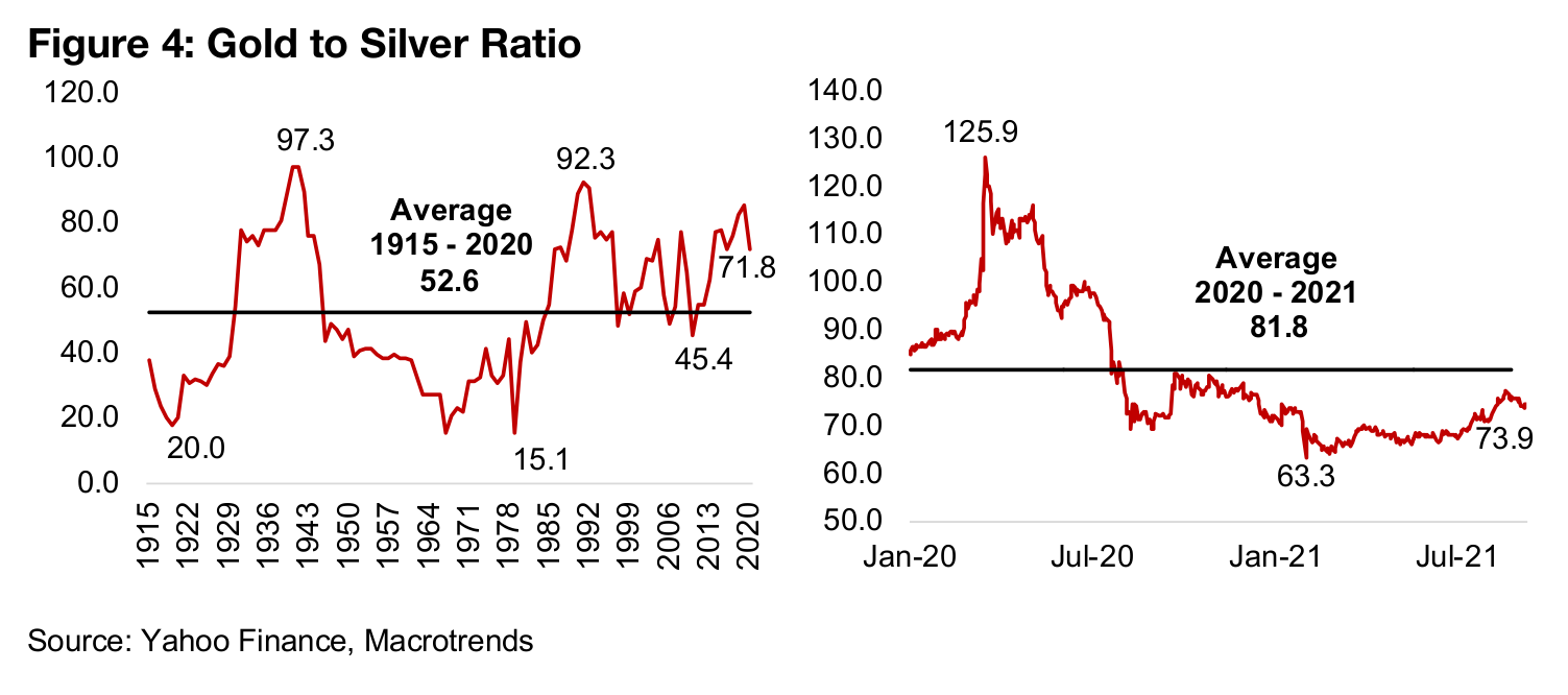 Metals' ratios in the short and long-term