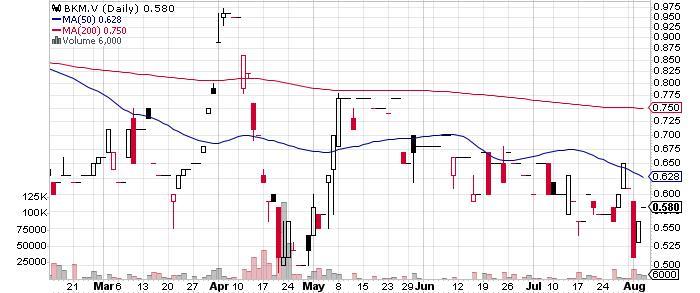 Pacific Booker Minerals Inc. graph