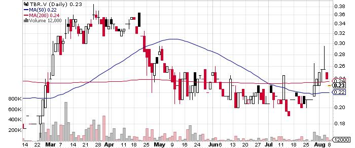 Timberline Resources Corporation graph